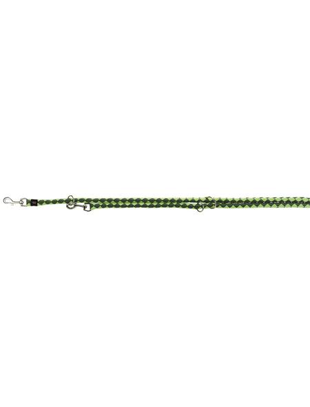 TRIXIE Hundeleine, Cavo, L–XL: 2,00 m/ø 18 mm, Gurtband, Hellgrün | Dunkelgrün
