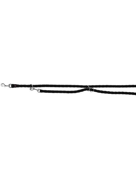 TRIXIE Hundeleine, Cavo, L–XL: 2,00 m/ø 18 mm, Gurtband, Schwarz