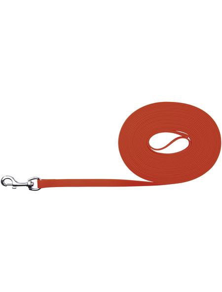 TRIXIE Hundeleine, Easy Life, 10 m/17 mm, PVC   Gurtband, Neonorange