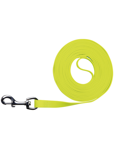 TRIXIE Hundeleine, Easy Life, 12,5 m/10 mm, PVC   Gurtband, Neongelb