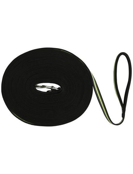TRIXIE Hundeleine, Fusion, 10 m/17 mm, Gurtband, Schwarz | Grün