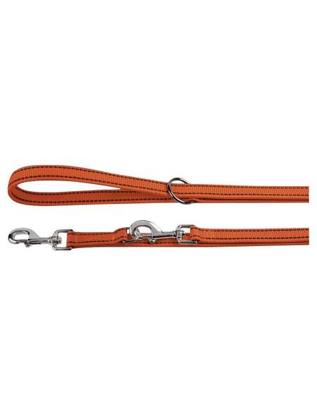 Hundeleine, Größe: verstellbar, Nylon, orange