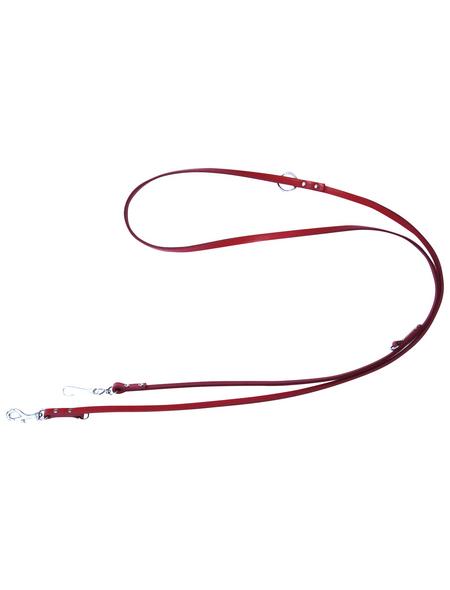 Hundeleine »Modern Art«, Größe: 200  cm, Leder, rot