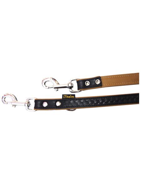 Hundeleine »Modern Art«, Größe: 200  cm, Leder, schwarz/cognacfarben