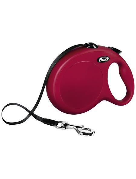 flexi Hundeleine, New CLASSIC Gurt, L: 8 m, Kunststoff, Rot