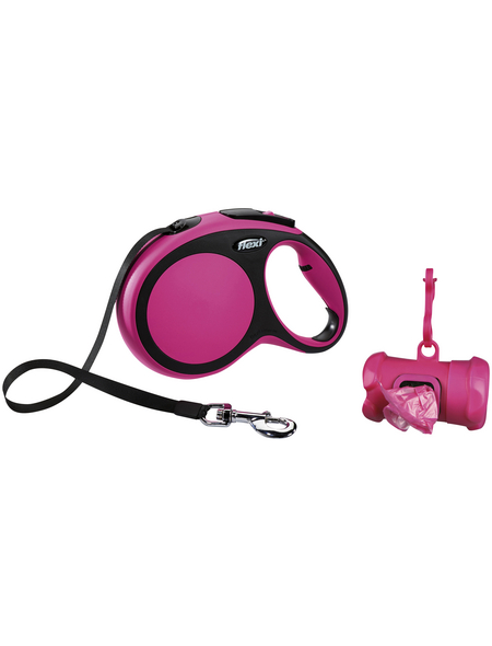 flexi Hundeleine, New COMFORT Gurt, L: 8 m, Kunststoff, Pink