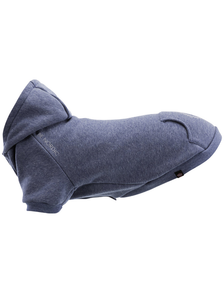 TRIXIE Hundemantel, blau, mit Klettverschluss und Kapuze