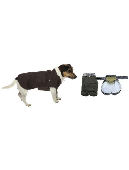 Amtra Hundemantel, braun, mit Klettverschluss