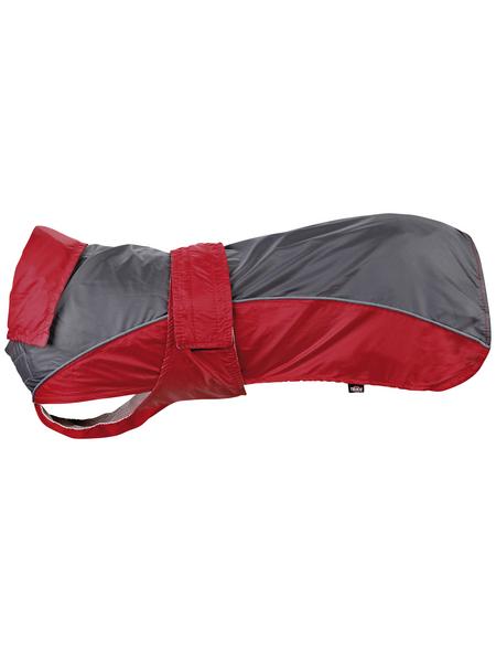 TRIXIE Hundemantel, rot/grau, mit Beinschlaufen