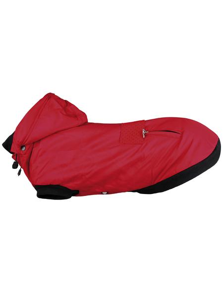 TRIXIE Hundemantel, rot, mit Reißverschluss