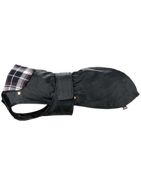 TRIXIE Hundemantel, schwarz, mit Klettverschluss