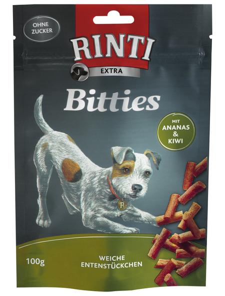 RINTI Hundesnack »Bitties«, Ente  /  Obst, 12x100 g
