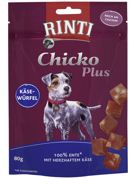 RINTI Hundesnack »Chicko«, Käse  /  Ente, 12x80 g