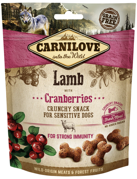 carnilove Hundesnack »Crunchy Snack«, 200 g, Lamm/Cranberry