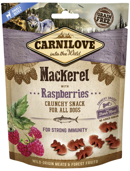 carnilove Hundesnack »Crunchy Snack«, 200 g, Makrele/Himbeer