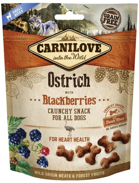 carnilove Hundesnack »Crunchy Snack«, 200 g, Strauss/Brombeere