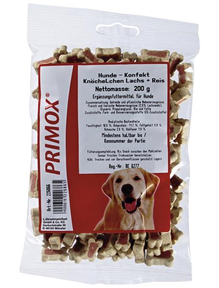 PRIMOX Hundesnack »Hundekonfekt«, Fisch  /  Reis, 12x200 g