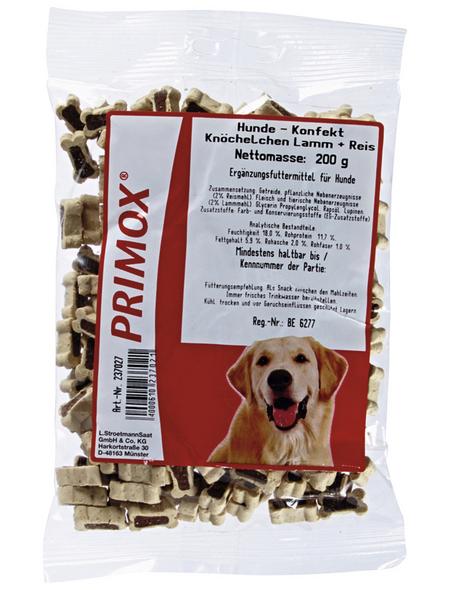 PRIMOX Hundesnack »Hundekonfekt«, Lamm  /  Reis, 12x200 g