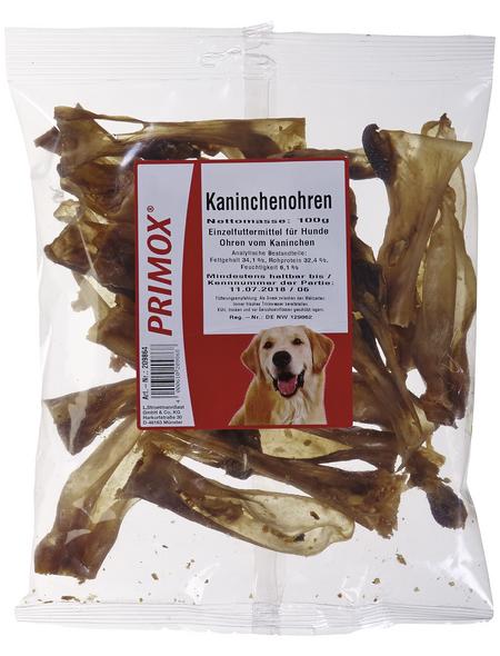 PRIMOX Hundesnack »Kaninchenohren«, Kaninchen, 12x100 g