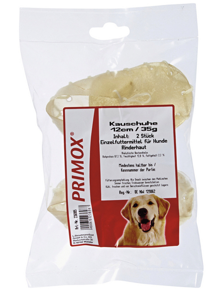 PRIMOX Hundesnack »Kauschuhe«, Rind, 12x35 g