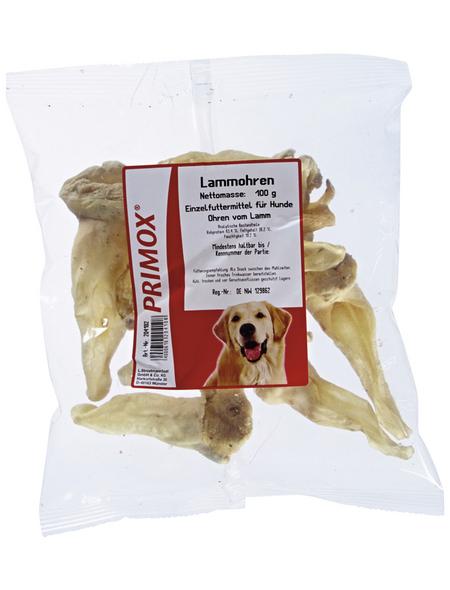 PRIMOX Hundesnack »Lammohren«, Lamm, 6x100 g