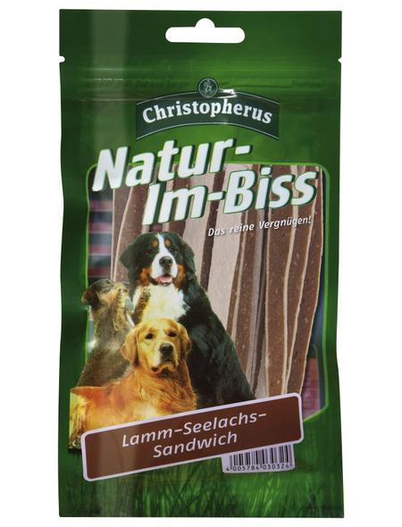 CHRISTOPHERUS Hundesnack »Natur-Im-Biss«, 70 g, Lamm/Fisch