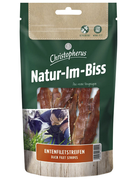 CHRISTOPHERUS Hundesnack »Natur-Im-Biss«, Ente, 70 g