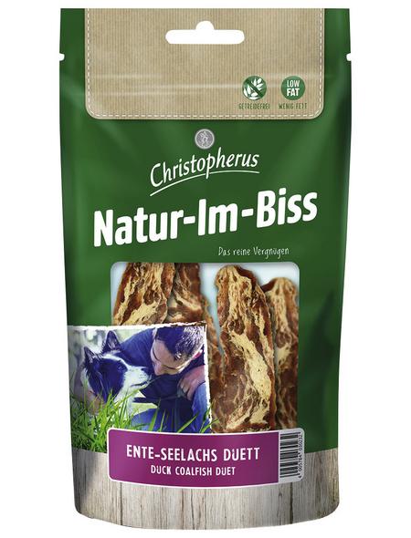 CHRISTOPHERUS Hundesnack »Natur-Im-Biss«, Ente/Seelachs, 70 g
