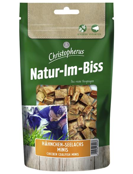 CHRISTOPHERUS Hundesnack »Natur-Im-Biss«, Hähnchen/Seelachs, 70 g