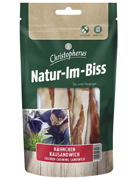CHRISTOPHERUS Hundesnack »Natur-Im-Biss«, Huhn, 70 g