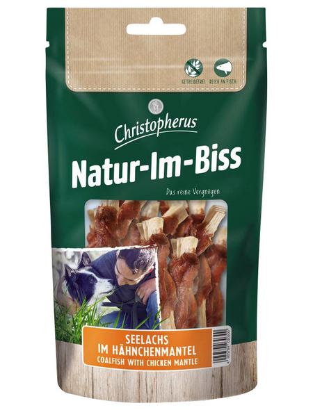CHRISTOPHERUS Hundesnack »Natur-Im-Biss«, Seelachs  /  Hähnchen, 12x70 g