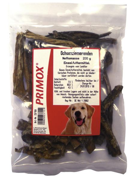PRIMOX Hundesnack »Ochsenziemerenden«, Rind, 12x200 g