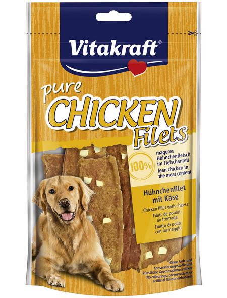 VITAKRAFT Hundesnack »pure CHICKEN«, 80 g, Huhn/Käse
