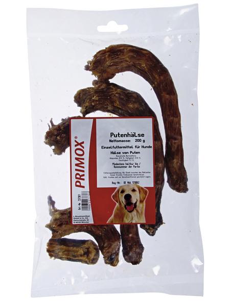 PRIMOX Hundesnack »Putenhälse«, Pute, 8x200 g
