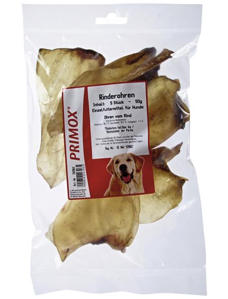 PRIMOX Hundesnack »Rinderohren«, Rind, 10x68 g