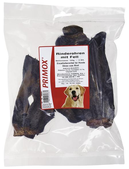 PRIMOX Hundesnack »Rinderohren«, Rind, 6x120 g