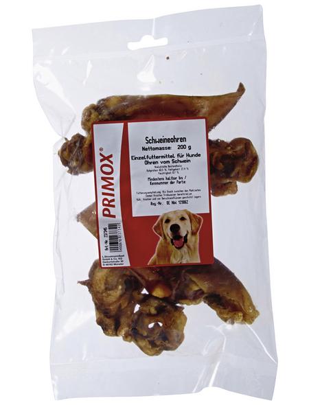 PRIMOX Hundesnack »Schweineohren«, Schwein, 10x200 g