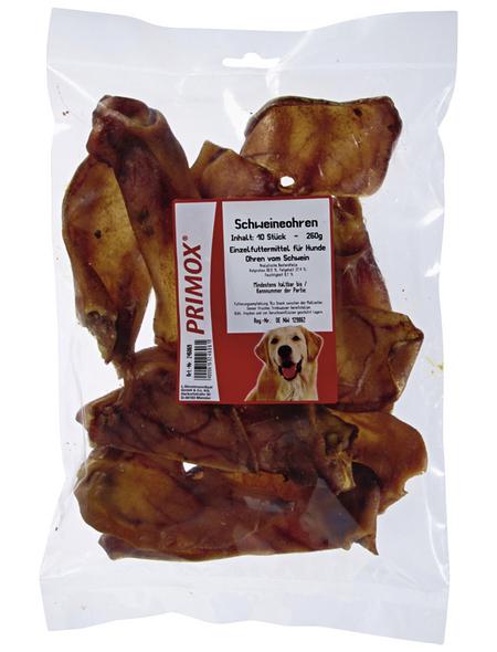 PRIMOX Hundesnack »Schweineohren«, Schwein, 10x800 g
