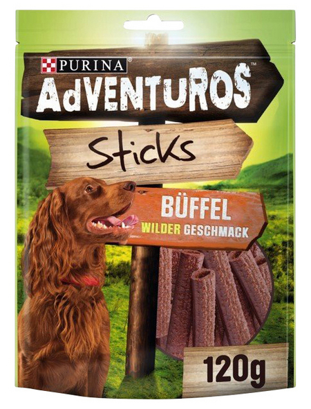 AdVENTuROS™ Hundesnack »Sticks«, 120 g, Büffel