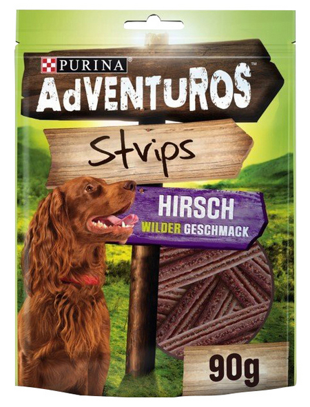 AdVENTuROS™ Hundesnack »Strips«, 90 g, Wild