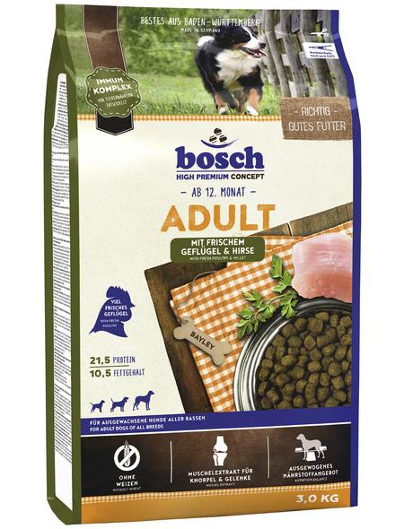 BOSCH PETFOOD Hundetrockenfutter »Adult«, 3 kg, Geflügel/Hirse