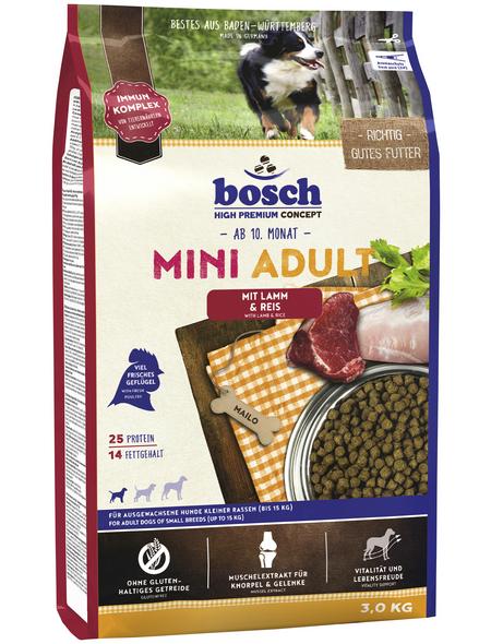 BOSCH PETFOOD Hundetrockenfutter »Adult«, 3 kg, Lamm/Reis
