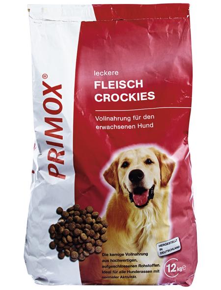 PRIMOX Hundetrockenfutter »Fleisch Crockies«, Fleisch, 12 kg