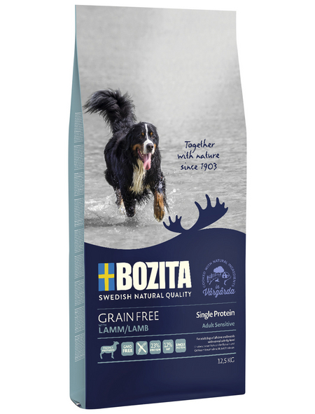 BOZITA Hundetrockenfutter »Grain Free«, 1 Beutel à 12500 g