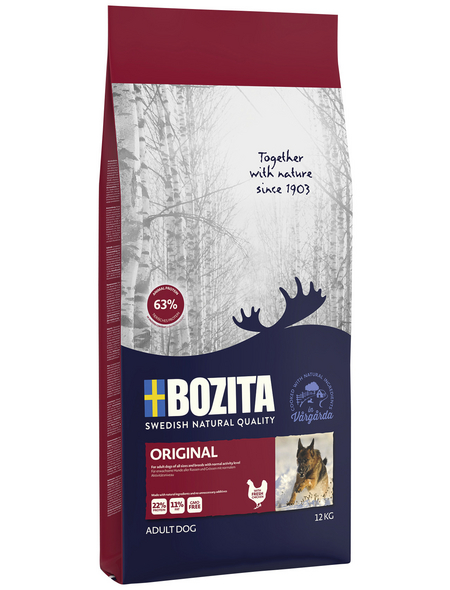 BOZITA Hundetrockenfutter »Naturals Original«, 1 Beutel à 12000 g