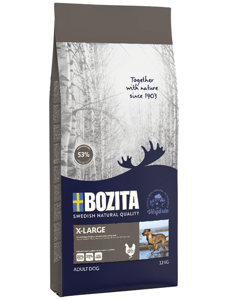 BOZITA Hundetrockenfutter »Naturals Original X-Large«, 1 Beutel à 12000 g