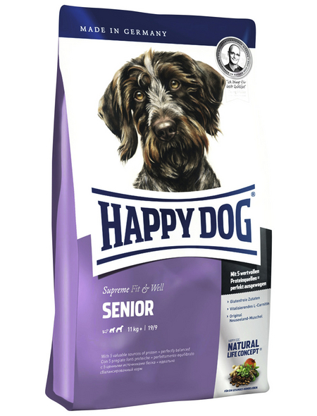HAPPY DOG Hundetrockenfutter »Supreme Fit & Well«, Geflügel / Lamm / Rind / Fisch, 4 kg