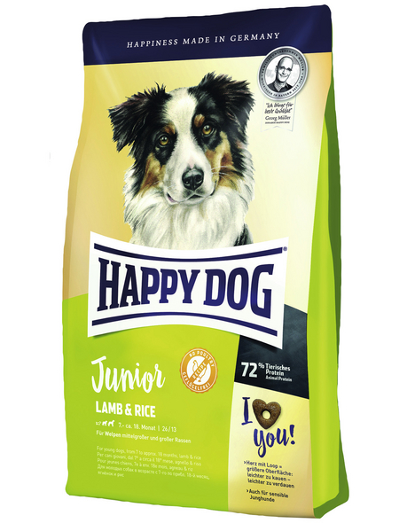 HAPPY DOG Hundetrockenfutter »Supreme young«, Lamm / Reis, 4x1 kg
