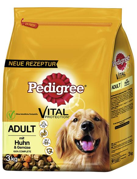 PEDIGREE Hundetrockenfutter »Vital Protection «, Huhn / Gemüse, 3 x 3 kg