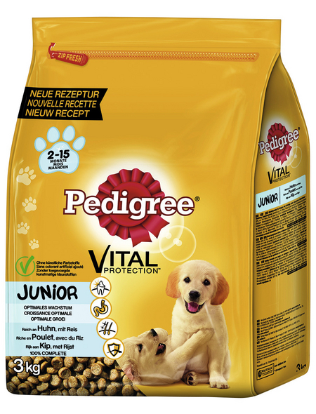 PEDIGREE Hundetrockenfutter »Vital Protection Medium«, Huhn / Reis, 3 x 3 kg